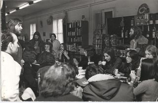 With Genesis and Lindisfarne at a Press Conference, Milan Airport 1973