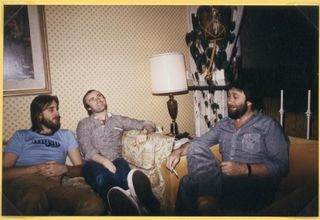 Colin with Phil Collins and Mike Rutherford 1978 LA