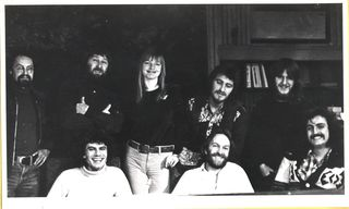 """With Neil Ardley and the musicians that recorded """"Kaleidoscope of Rainbows"""""""