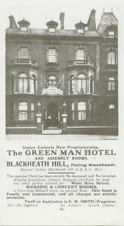 Green man. Blackheath